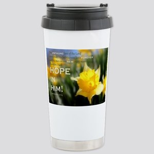 Hope In Him Stainless Steel Travel Mug